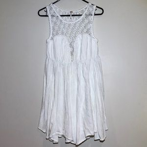 Free People White Sleeveless Dress